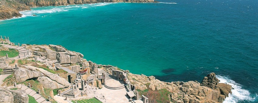Views to Porthcurno from the Minack Theatre
